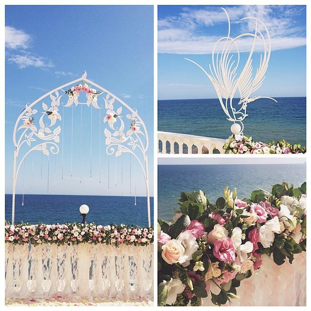 Свадебная церемония в Крыму на море