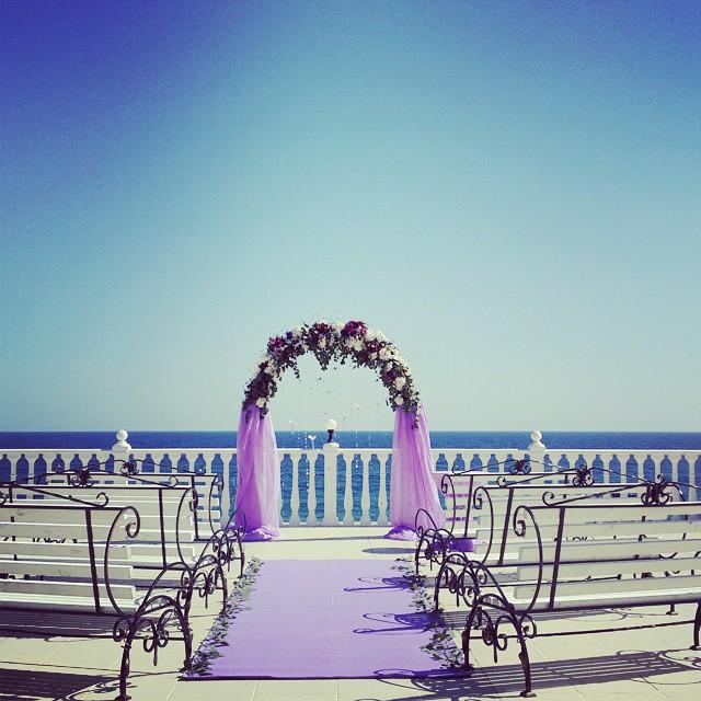 Свадьба на море в Крыму, Алушта, ЮБК